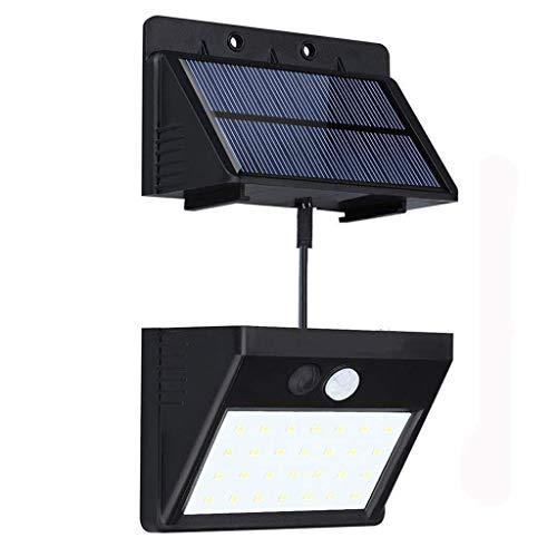 Superhelle Solarleuchten 30 LEDs Mit Bewegungsmelder Trennbarer Solar Panel 3 Modi Solarleuchte Für Drinnen/Draußen Wasserdichte Solar Leuchte Für Lager, Patio, Deck, Balkon, Hof, Außenwand (1 Stück)