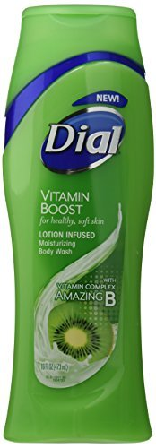 Dial Moisturizing Body Wash - Vitamin Boost - Lotion Infused for Healthy, Soft Skin - Net Wt. 16 FL OZ (473 mL) Each - by Dial