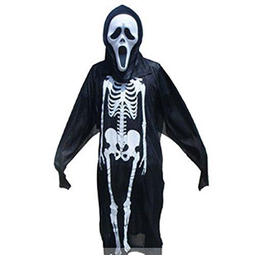 Halloween Kostüme Erwachsene Männer Und Frauen Skeleton Ghosts Horror Dämonen Vampir Kleidung Tänzer Kinder (Kostüme Halloween Realistische Scary)