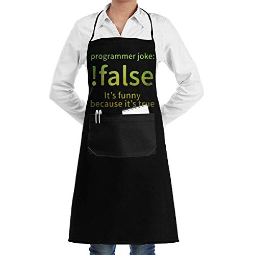 SDGSS with Pocket Schürze,Cool False Programmer Joke Professiona Kitchen Chef Pocket Programmer