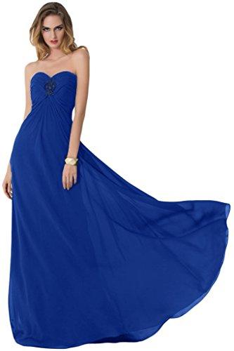 Sunvary Sexy retro aperto in Chiffon Prom abiti da damigella d'onore Empire vita Royal Blue