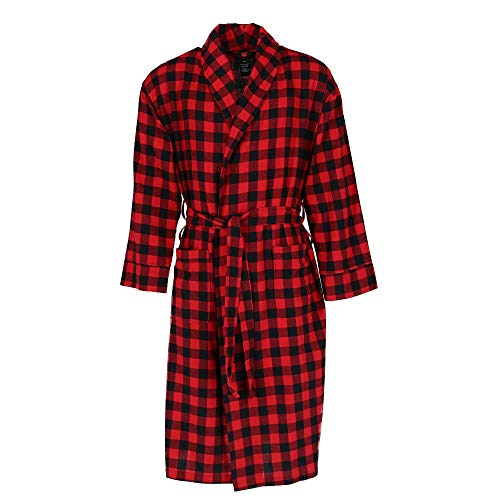 L/s Jammies (Hanes Men's Cotton Flannel Robe with Pockets)