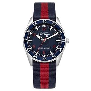 Ben Sherman Jungen Analog Quarz Uhr mit Nylon Armband BSK003UR G