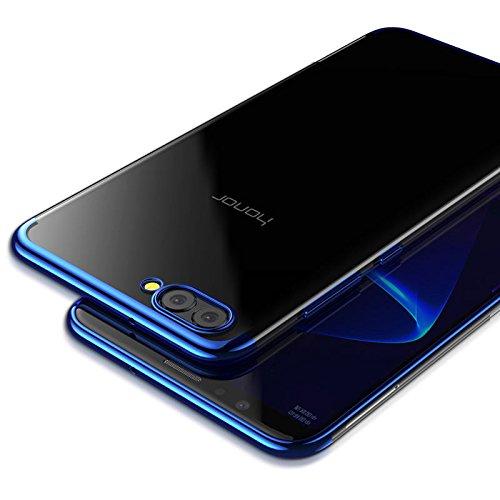 Case Huawei Honor View 10 / Honor V10,Housse Résistante antichoc Premium TPU Silicone Bumper Coque Honor View 10 - Bleu