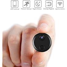 Hootracker Mini Cámara espía, Espía Cámara Oculta 1080P HD Portátil Interior/Exterior WiFi Cámara