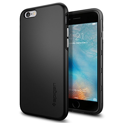igen® [Thin Fit Hybrid] Passgenaues [Schwarz] Premium Hart-PC Schale / Schlanke Handyhülle / Schutzhülle für iPhone 6/6S Case, iPhone 6/6S Cover - Black (SGP11730) (Iphone 6 Hybrid Case)