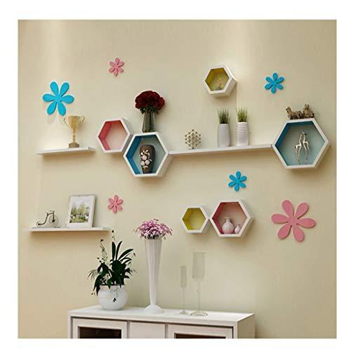 Q-placeoo mensola di galleggiamento mensola di parete riccamente colorata combinazione decorativa decorativa dell'oggetto della mensola di galleggiamento della mensola di galleggiamento decorazione