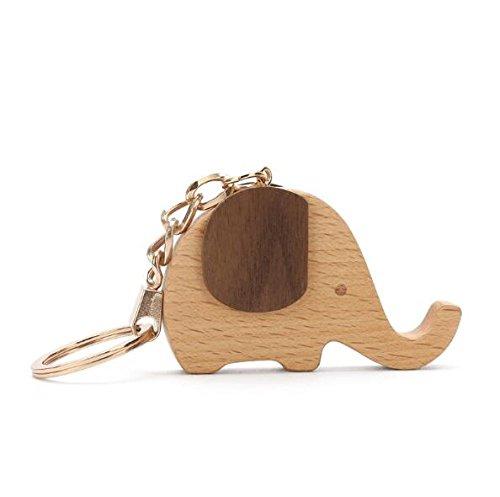uctop Store Hohe Qualität walnuss & takubi Creative handgefertigt Cute Cartoon Elefant Herren Frauen Auto Anhänger Schlüsselanhänger Key Ring LOVE Geschenke für Freundin oder Freund - Qualität Walnuss