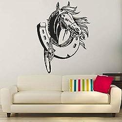 Haute Qualité Mode Décoratif Sticker Animal Cheval Art Stickers Muraux Enfants Chambre de Bébé Décoration de La Maison Salon Stickers Muraux Maison Rose 57x77 cm