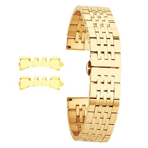 Gold Uhrenarmband für Ersatz Frauen 15mm Luxusuhrenarmband Armband