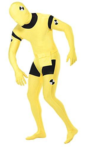 tüm für Herren gelb Ganzkörperanzug Gr. M-L, Größe:L (Crash Test Dummy Morphsuit)