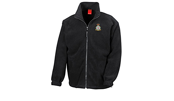 Official RAF Royal Air Force Full Zip Heavyweight Fleece Jacket 208 RAF Squadron Embroidered Logo Military Online No