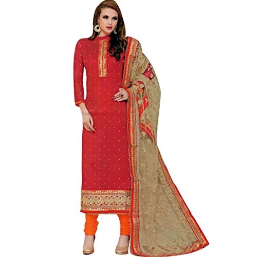 Lady Line Wedding Karachi Style Embroidered Salwar Suit /Un-stitched Dress Material