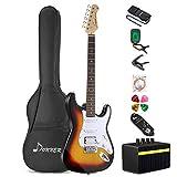 Donner DST-1S Full-Size 39 Zoll E-Gitarre Set Sunburst mit Verstärker, Tasche, Capo, Gurt, Saite, Tuner, Kabel und...