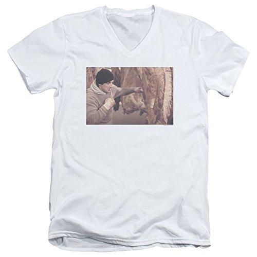 Rocky 1970er Erwachsene T-Shirt mit V-Ausschnitt (1970er-shirt)