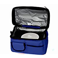 Double Compartment Insulated Lunch Bag - Navy/Blue