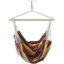 Ultranatura Bali - Silla colgante con travesaño, carga máxima 150 kg, arco iris, ancho