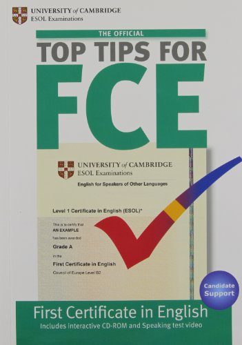 The Official Top Tips for FCE with CD-ROM por Cambridge ESOL