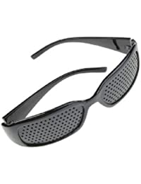 4sold (TM) Dioptric pinhole with metal hinges GridGlasses Pinhole glasses for eyesight strengthening Pinhole Glasses for Eyesight Strengthening - Unisex Black - unisex black