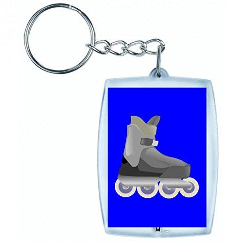 "Schlüsselanhänger ""SKATE- INLINE- ROLLERBLADES- SKATEN- SPORT- FITNESS- BOOT- INLINE SKATING- ROLLERSKATING- SPAß- ERHOLUNG- "" in Blau | Keyring - Taschenanhänger - Rucksackanhänger - Schlüsselring"