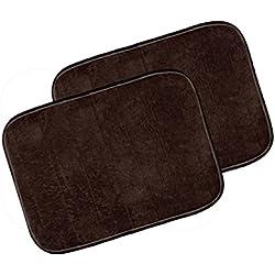 """Warmland Anti Skid Solid 2 Piece Polyester Door Mat-20""""x 30"""", Brown"""