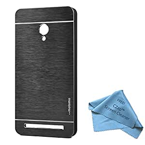 CZap Motomo Full Metal Protective Hard Back Case Cover for ASUS Zenfone 6 - Black