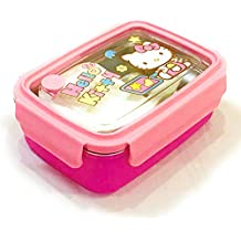 Glorygifts Hello Kitty Theme Air Tight Lunch Box With Spoon And Fork For School Kids And Others