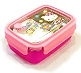 Glorygifts Hello Kitty Theme Air Tight Lunch Box With Spoon And Fork For