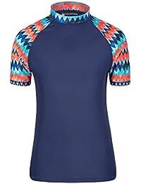 Mountain Warehouse Camiseta térmica Estampada para Mujer - Protección Solar UPF50+, Camiseta térmica de Manga Corta para Mujer, Top de Verano elástico - para Nadar