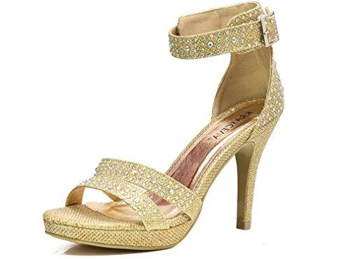 Ubershoes , Bride de cheville femme Or - doré
