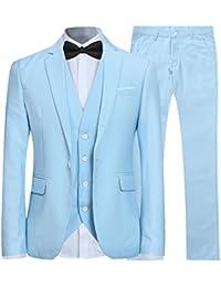 526b3b466760 Costume Couleur Unie en cérémonie Mariage Veste Gilet et Pantalon Homme ...