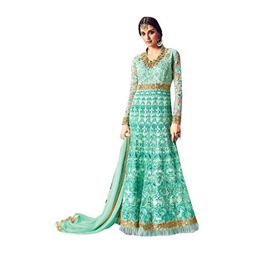 ETHNIC EMPORIUM Damen Bollywood Muslim Festive Lange Anarkali Shalwar Kameez Kleid Hochzeit Eid Rakhi Anzug-Kleid-Gewohnheit misst 2855 43483 Wie gezeigt -