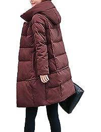 Nueva Chaqueta Para Mujer Con Capucha De Invierno Acolchada Abrigo De Parka  Más El Tamaño De b144d9cef3f7