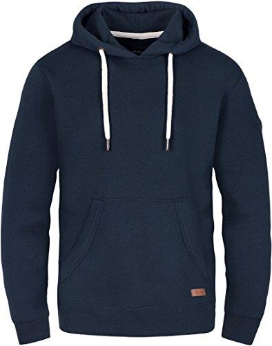 SOLID Toni Herren Sweatshirt Pullover Sweater Kapuzenpullover Hoodie Männer Kapuze Baumwolle Einfarbig, Farbe: (Blau) insignia blue (1991), Größe: M