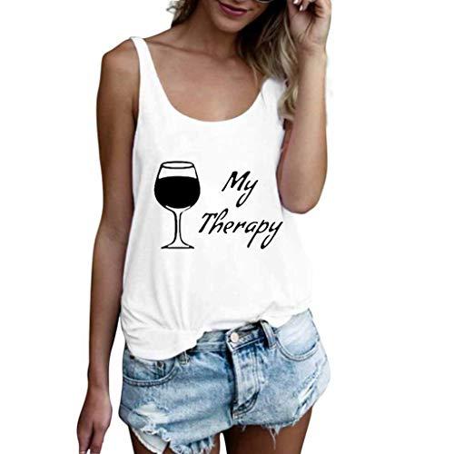 a091e55c8f4 Linkay Femme Chemisier Femme Manche Courte Été Tops Lettre Veste Débardeur  Débardeur T-Shirt Blouse