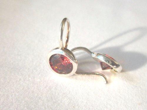Lumani Ohrhänger Rot rund - Silber der Dauertrend