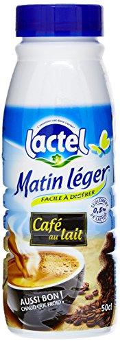 Lactel café au lait Matin Léger la Bouteille 50Cl - Lot de 3