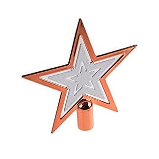 Clever-Creations-Weihnachtsbaumspitze-in-Sternform-Festliche-Weihnachtsdeko-bruchsicherer-Kunststoff-fr-Weihnachtsbume-jeder-Gre-Glitzerndes-Wei-kupferfarben-165-x-165-cm