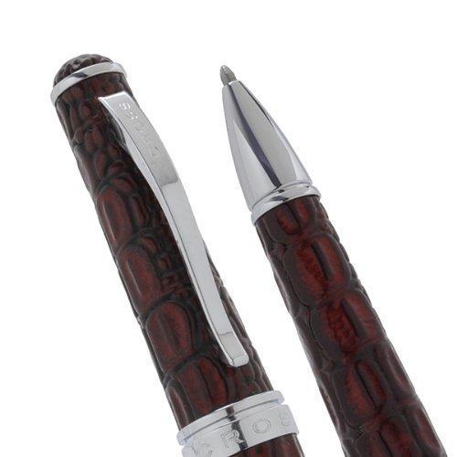 Kreuz Executive Style Texturen und Bordeaux Croc Embossed Italienisches Leder Kugelschreiber. Imagine A Leder Stift aus stabil.