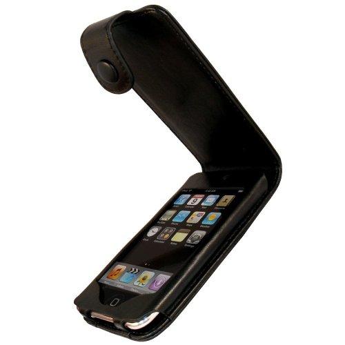 igadgitz U0135 Leder Tasche Schutzhülle Etui Case für Apple iPod Touch 2. & 3. Generation mit Schutzfolie - Schwarz Apple 8 Gb 2. Generation Ipod Touch