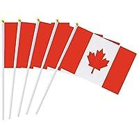AzuNaisi 50 STK Kanada Stock Flagge 55 x 83 Zoll Kleine Hand Flagge Mini Kanadische Flagge Home dekor