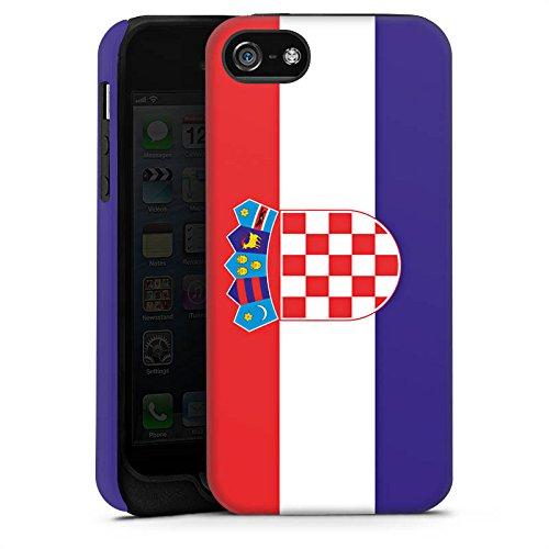 Apple iPhone X Silikon Hülle Case Schutzhülle Kroatien Flagge Fußball Tough Case matt