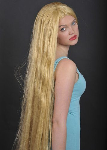 Lady Godiva Extra lange Blonde Kostüm Perücke -