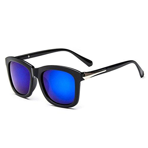 Z-P Unisex Reflexivo Retro UV400 gafas de sol de colores 53MM