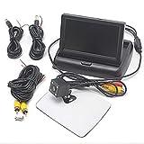 Kit de visión Trasera para cámara de Marcha atrás con Cable HD de 170 ° + 4,3 Pulgadas LCD Plegable