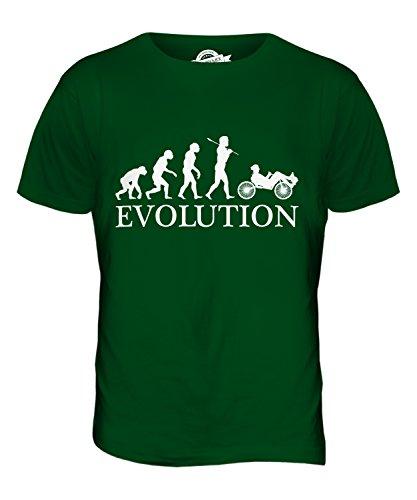 Candymix Liegerad Evolution des Menschen Herren T Shirt, Größe 4X-Large, Farbe Flaschengrün