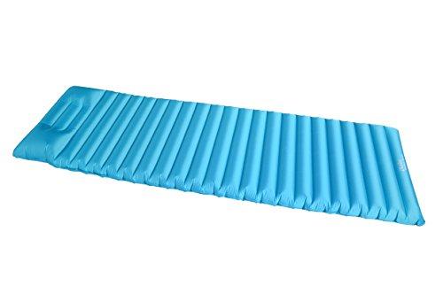 iNeibo Ultra Leicht Aufblasbare Luftmatratze, Isomatte mit Kopfkissen, Wasserdicht Air Matratze, Leicht und Gemütlich Sleeping Pad für Camping, Reise, Outdoor, Wandern, Strand (Hellblau)