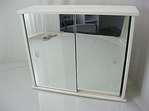 Generic neuf en bois blanc 2porte coulissante armoire de salle