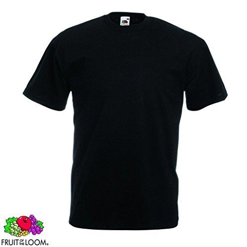 5/10er Fruit of the Loom Herren Valueweight T-Shirt Kurzarm Rundhals Gr. 3XL-5XL 5x Schwarz