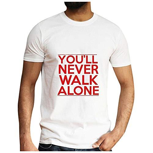 Beonzale Sommer Casual Mens Fashion Casual Brief Solid Color Print Kurzarm T-Shirt Bluse Gesicht Gedruckt Rundkragen Komfortable T-Shirt Top Apple-print-leggings